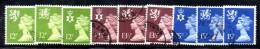Z719 - GRAN BRETAGNA 1980 , Serie Ordinaria Usata  N. 941/949 - 1952-.... (Elisabetta II)