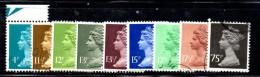 Z737A - GRAN BRETAGNA 1980 , Serie Ordinaria Usata  N. 900/908 - 1952-.... (Elisabetta II)