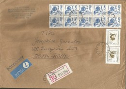 SPPOLSKA56---  STORY POSTAL,  POLAND, POLONIA,   WARSZAWA--ROMA, ITALY, - 1944-.... Repubblica