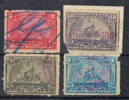 Sellos Fiscales Estados Unidos 1898. Ship, Barcos, Documentary Fiscal º - Revenues