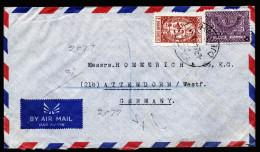 A3965) Saudi Arabia Airmail Cover From Jeddah 6.1.54 To Germany - Saudi-Arabien