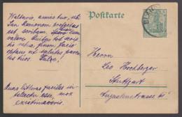 G 643) DR PK 1911?: Vollständig In Lateinischer Sprache Geschrieben Karte Latein - Sprachen