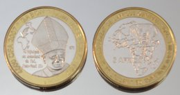 Gabon 4500 CFA 2007 Monnaie Bimétallique Précieuse Pape - Gabon