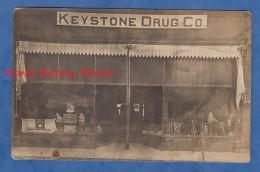 CPA Photo RPPC - DEER LODGE , Montana - Shop KEYSTONE Drog. Co. - 1918 - Products Palmolive Cream - Etats-Unis