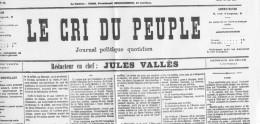 """JOURNAL FAC-SIMILÉ  """"LE CRI DU PEUPLE"""" N° 31 DU 1er AVRIL 1871 - 1850 - 1899"""