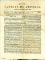 Journal. Courrier De L'Europe Du Vendredi 18 Janvier 1782. N° VI° - Journaux - Quotidiens