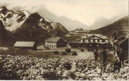 ISERE Voyagé Grenoble : Véritable Carte Photo Bromure Sans Bordure : Le Lautaret Hôtels Et Refuges Massif De La Meije - Autres Communes