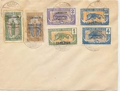 LBL38/1 - CAMEROUN EP ENV PANTHÈRE 15c  + TPM OBL. DUALA 10/11/1921 OBL. AU VERSO DUALA 11/11/1921 - Cameroun (1915-1959)