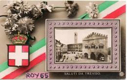 Veneto-treviso Saluti Da Treviso Veduta Tipo Quadro Stemma Tricolore Fiore - Treviso