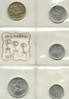 SAN MARINO OFFICIAL SET 5 PCS 1972 UNC - San Marino