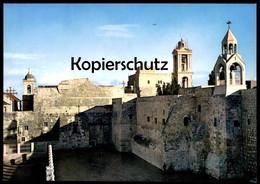 ÄLTERE POSTKARTE NATIVITY CHURCH EXTERIOR VIEW BETHLEHEM JORDAN Kirche église Cpa Postcard Ansichtskarte AK - Jordanien