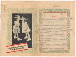 TURQUIE,TURKEY,TURKEI 1955  CHILD PROTECTION AGENCY ,CONGRATULATORY TELEGRAM - Historical Documents