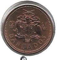 *barbados 1 Cent 1991  Km 10 Bu - Barbades