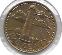 *barbados 5 Cents 1988  Km 11  Unc - Barbades