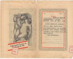 TURQUIE,TURKEY,TURKEI,1955 CHILD PROTECTION AGENCY,CONGRATULATORY TELEGRAM VERY RARE - Historical Documents