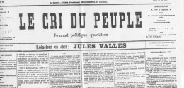"""JOURNAL FAC-SIMILÉ  """"LE CRI DU PEUPLE""""   N° 47 DU 17 AVRIL 1871 - Journaux - Quotidiens"""