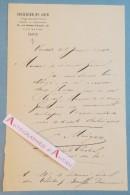 L.A.S 1900 COURRIER DU SOIR - Cité Retiro - Signataire Journaliste à Identifier -Au Théâtre Des Bouffes Parisiens Lettre - Autographes