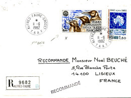 E 342/ TAAF  SUR  LETTRE RECOMANDE  -ALFRED FAURE CROZET    -1982- - Terre Australi E Antartiche Francesi (TAAF)
