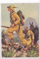 """CARD  ALPINI  5° DIVISIONE ALPINA """"PUSTERIA""""  AFRICA ORIENTALE DISEGNO DI FERRARI -FG-N-2-0882-25197-198 - Militaria"""