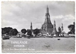 Thailand - BANGKOK - 1 - Le Fleuve Menam Et Le Temple Wat Arun - Photo A. Robillard Paris - Tailandia