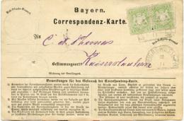 N3593 Altdeutschland Correspondenz Karte Bayern HK. St. Gaugrehweiler N. Kaiserslautern - Germany
