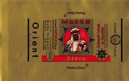 """05303  """"MEKKA STERN 12 - CRÜWELL - TABAK - INCARTO PER CONFEZIONE TABACCO PER PIPA """" INCARTO ORIGINALE - Contenitori Di Tabacco (vuoti)"""