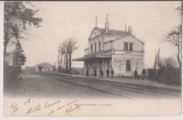 MEUNG SUR LOIRE :LA GARE - DES CHEMINOTS SUR LES QUAIS - ECRITE 1903 - *2 SCANS* - - Other Municipalities