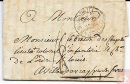 France 1791 - Lettre De Saint-Domingue - Marque Entrée Maritime - COLONIES PAR BORDEAUX En Cercle - Fleur De Lys - Marcophilie (Lettres)