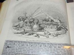 Englisch Coronation Insignia England Engraving Print 1838!!! - Prints & Engravings