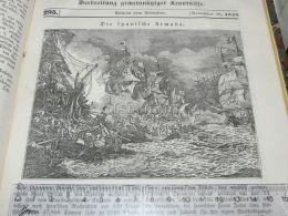 Spain Armada Engraving Print 1838!!! - Estampas & Grabados
