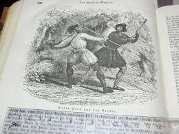 Robin Hood England Engraving Print 1838!!! - Prints & Engravings
