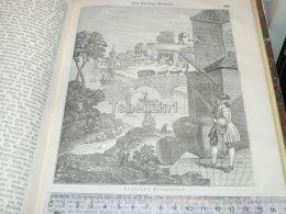 William Hogarth Perspective England Engraving Print 1838!!! - Prints & Engravings