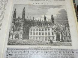 Cambridge England Engraving Print 1838!!! - Prints & Engravings