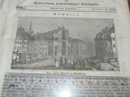 Bamberg Germany Engraving Print 1838!!! - Prints & Engravings