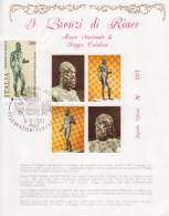 4-Foglietto Ufficiale I Bronzi Di Riace Con Annullo Speciale-Tema Archeologia-9.9.1981 - 6. 1946-.. Repubblica