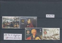 Lot De 2 Dyptiques De Malte (2timbres Avec Déchirure). Thème Napoléon. - Napoléon