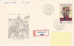 1974 - Registered Mail Ostrava Peinture Painter Frantisek Gross - FDC