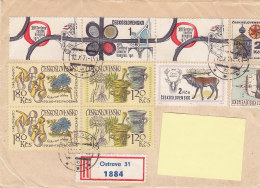 1971 - Registered Mail Ostrava Stamps...to Luxembourg - FDC