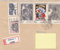 1973 - Registered Mail Ostrava Painter Painting Stamps...to Luxembourg - FDC