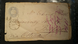 1874 30 Rp. Tüblibrief Nach Belfort Via Dublin - Stamped Stationery