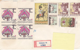 1972 - Registered Mail Ostrava Napoléon(?) Stamps...to Luxembourg - FDC
