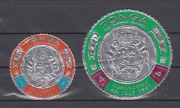 Tonga 1967 Mi Nr 201 + 203 ; Troonbestijging  Koning Taufa'ahau Tupou IV - Tonga (1970-...)