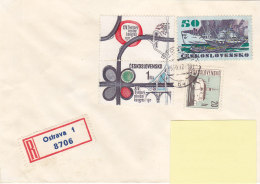 1972 - Registered Mail Ostrava Kongres Boat Stamps...to Luxembourg - FDC