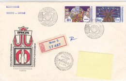 1974 - Registered Mail Brno BRNO74 (to Luxembourg) - FDC