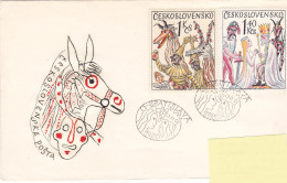 1975 - Bratislava Carnaval(?) (to Luxembourg) - FDC
