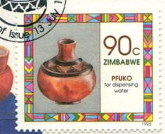 Zimbabwe 1993 - YT 281 (o) Sur Fragment - Zimbabwe (1980-...)