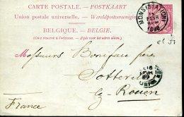 EP 57 - De Mons à Sotteville Les Rouen (76) Du 15 Février 1896 - Cartoline [1871-09]