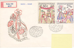 1975 - Registered Mail Praha Carnval(?) (to Luxembourg) - FDC