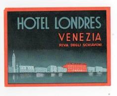 B5000 * HOTEL LONDRES. Venezia / Venice. - Hotel Label - Adesivi Di Alberghi