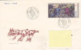 1975 - Kvetnove Povstani Ceskeho Lidu 1945-1975 (to Luxembourg) (tank) - FDC